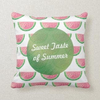 Watercolour Taste of Summer Watermelon Pillow