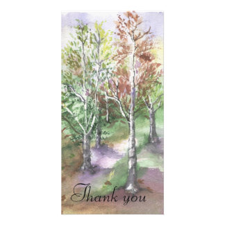 WATERCOLOUR, Thank you card Personalized Photo Card