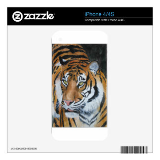 Watercolour Tiger Decal For iPhone 4