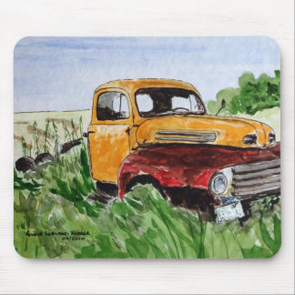 Watercolour truck mouse pad