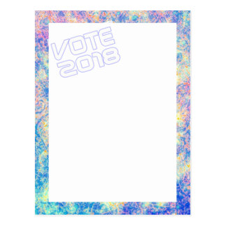 Watercolours VOTE 2018 postcard