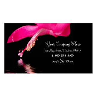 Waterdrop floral business card
