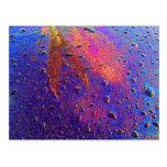 Waterdrops en la capilla del coche postales