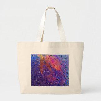 Waterdrops On Car Hood Canvas Bag