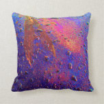 Waterdrops On Car Hood Throw Pillow