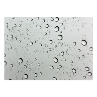 Waterdrops on Glass Background Large Business Cards (Pack Of 100)