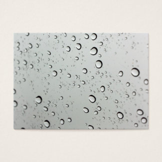 Waterdrops on Glass Background Business Card