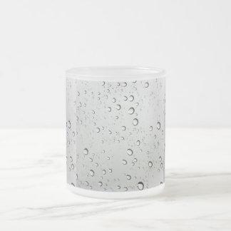 Waterdrops on Glass Background Mug