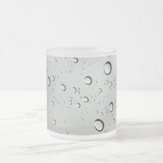 Waterdrops on Glass Background Mugs