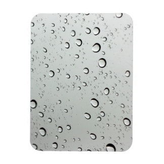 Waterdrops on Glass Background Magnet
