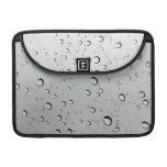 Waterdrops on Glass Background Sleeve For MacBooks