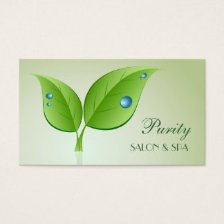 Waterdrops on Leaves Business Card