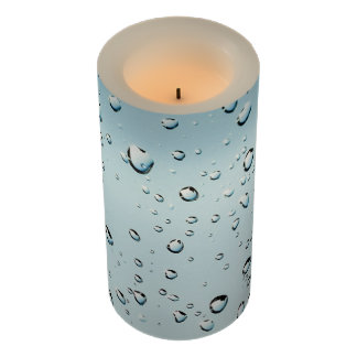 Waterdrops on Pane Flameless Candle
