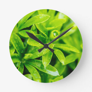 WaterDrops Round Clock