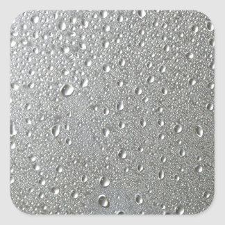 Waterdrops Square Sticker