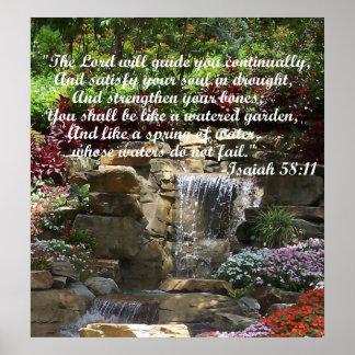 Watered Garden Poster