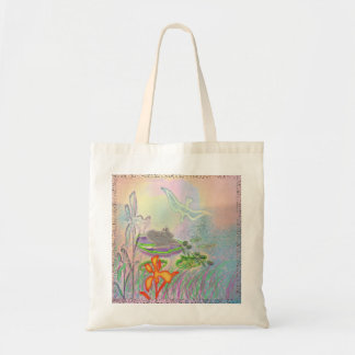 waterfairy with frog tote bag