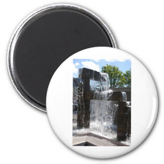 Waterfall070310 2 Inch Round Magnet