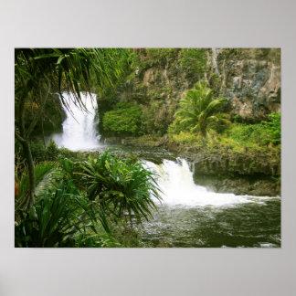 Waterfall1 hawaiano posters