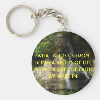 waterfall1, WHAT KEEPS US FROM BEING A VICTIM O... Keychain
