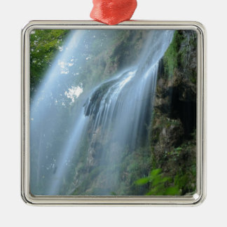 waterfall-2259 adorno navideño cuadrado de metal