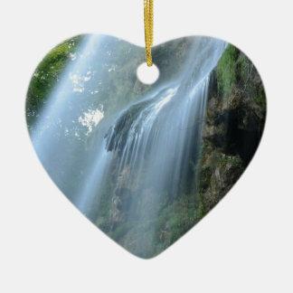 waterfall-2259 adorno navideño de cerámica en forma de corazón