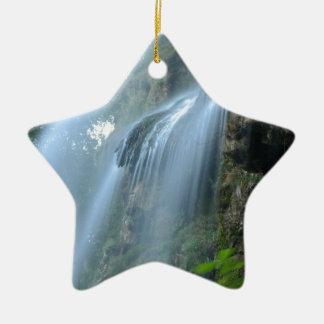 waterfall-2259 adorno navideño de cerámica en forma de estrella