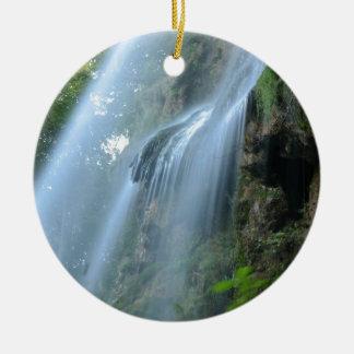waterfall-2259 adorno navideño redondo de cerámica