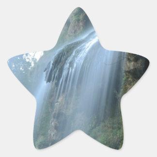 waterfall-2259 pegatina en forma de estrella