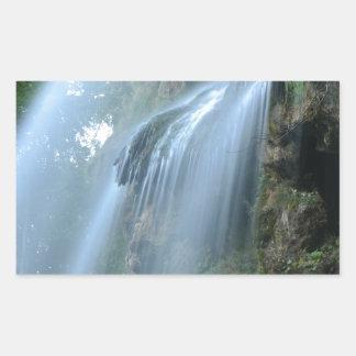 waterfall-2259 pegatina rectangular