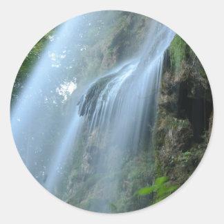 waterfall-2259 pegatina redonda