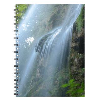 waterfall-2259 spiral notebook