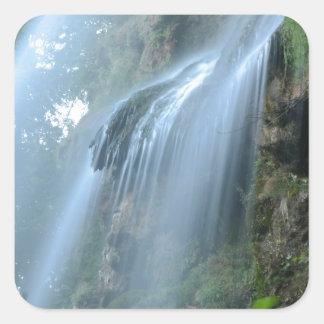 waterfall-2259 square sticker