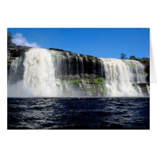 Waterfall 4 Venezuela Jungle Landscape Fine Art Card