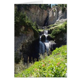 Waterfall along the way card