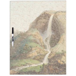 Waterfall Alps Mountains Europe Dry Erase Board