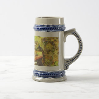 Waterfall and greenery beer stein