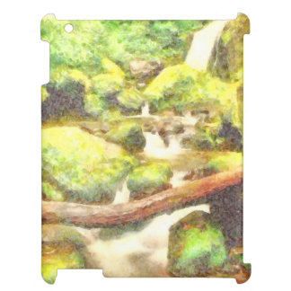Waterfall and greenery case for the iPad