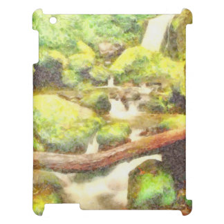 Waterfall and greenery cover for the iPad 2 3 4