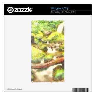 Waterfall and greenery skins for the iPhone 4