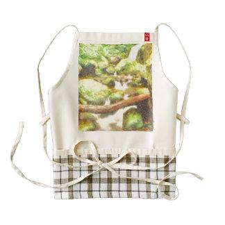 Waterfall and greenery zazzle HEART apron
