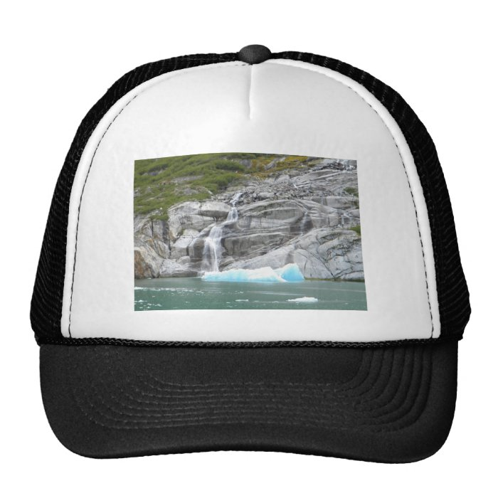 Waterfall and Iceberg Alaska Inside Passage Trucker Hat