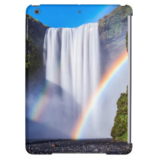 Waterfall and rainbow iPad air cover