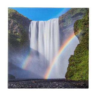 Waterfall and rainbow tile