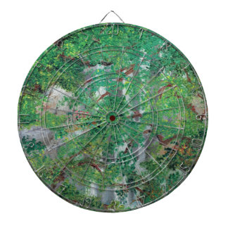 Waterfall and Trees Dartboard With Darts