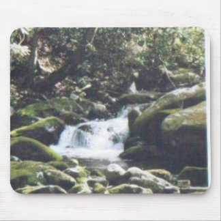 waterfall around the rocks #63 mouse pad