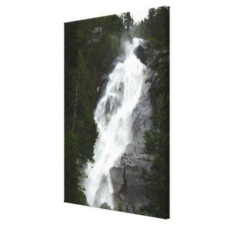 Waterfall Art Print Shannon Falls BC Art Canvas