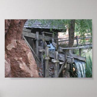 Waterfall at Big Thunder Mountain Railroad Poster