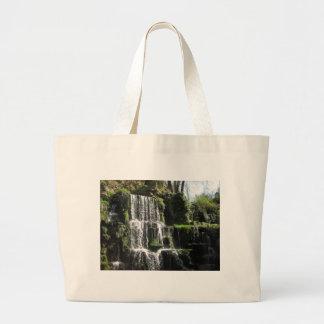 Waterfall at Bowood Large Tote Bag