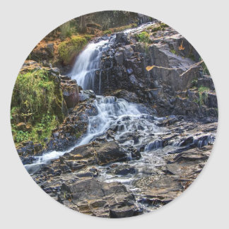 Waterfall at Chester Creek Round Sticker